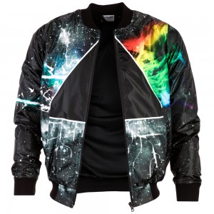 Prismatic Bomber Jacket
